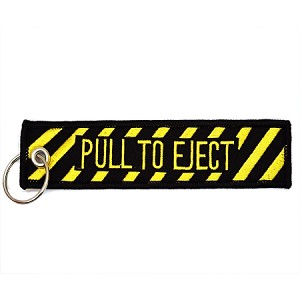 Pull to eject caution keychain for Pull it off definition